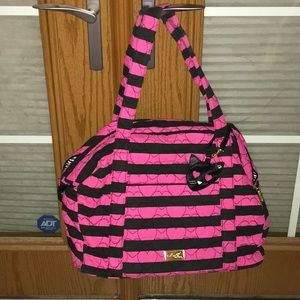 Betsey Johnson Large Quilted Travel Tote